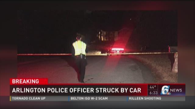 UPDATE: Arlington officer struck down